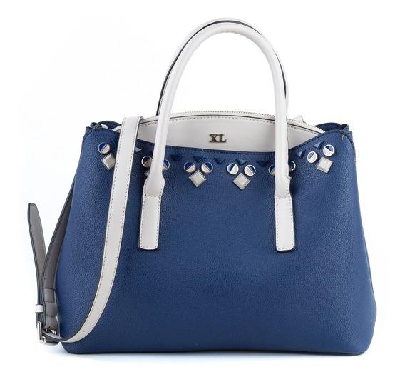 Cartera Mujer Xl Extra Large Devany Azul
