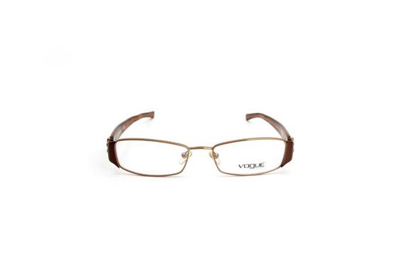 Oculos De Grau Feminino Vogue Metal Cobre Quadrada