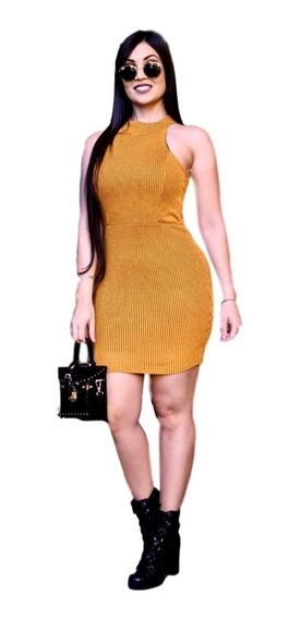Vestido De Festa Curto Roupas Femininas Tricot Trico #vlm401