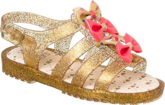 Sandália Goma Gliter Dourada