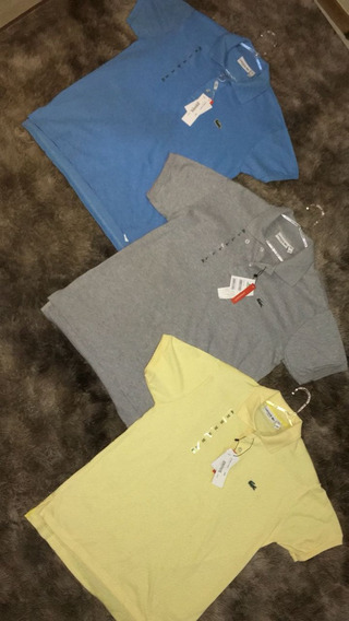 Kit 10 Blusas Originais Lacoste Burberry Fred Perry