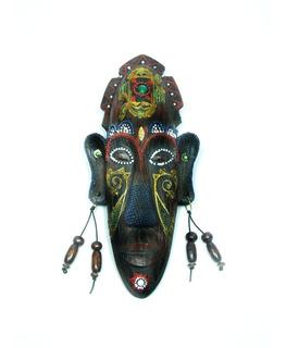 Máscara Africana De Resina Para Parede 20cm