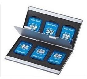 Porta Cartão Sd - Feito De Alumino - 6 Cartões