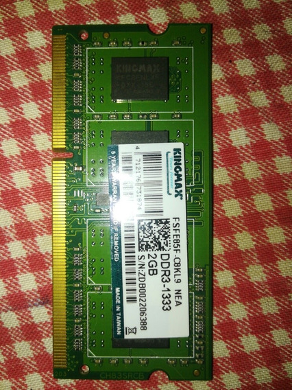 Memoria Ram 2 Gbytes, Ddr 3, Usada
