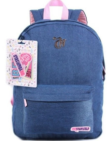 Mochila Capricho Patches Jeans 11360 Escolar Original