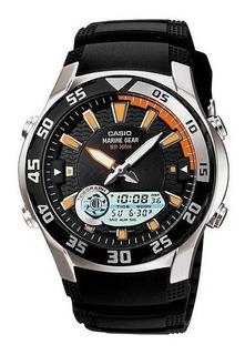 Reloj Casio Hombre Amw-710-1a Mareas Wr 100m Gtia 2 Años