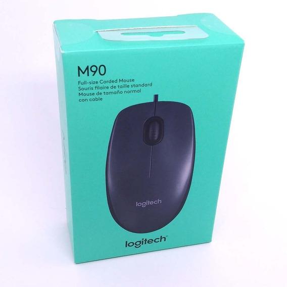 Mouse Óptico Logitech Usb 2.0 M90 Preto 1000dpi Confortavel
