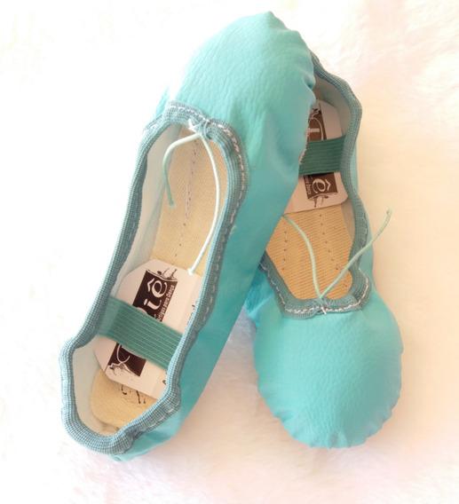 Sapatilha De Ballet Bale Cor Azul Tiffany