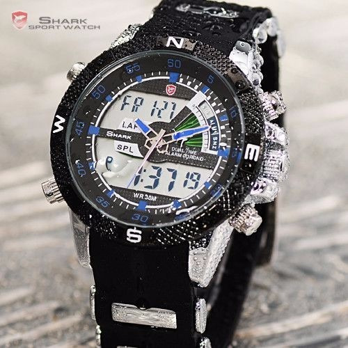 Relógio Shark Army Original - Porbeagle Sh044 Aço Inoxidável