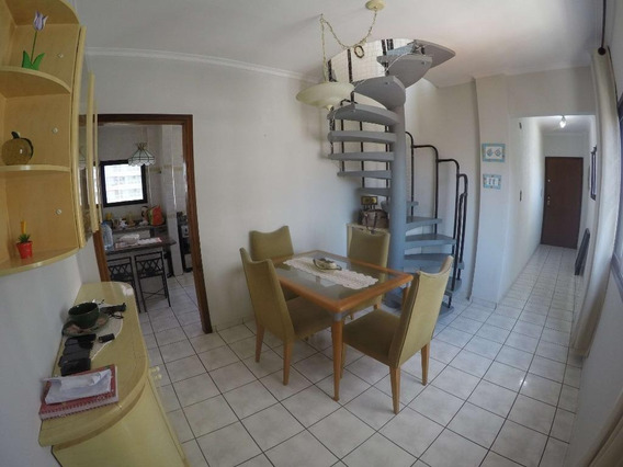 Cobertura Duplex Mobiliada Com 2 Dormitórios Para Alugar, 100 M² Por R$ 2.100/mês - Aviação - Praia Grande/sp - Co0061