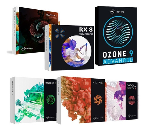 Izotope Suite Ozone 9 + Nectar + Rx8 + Neutron Y Mas - Mac