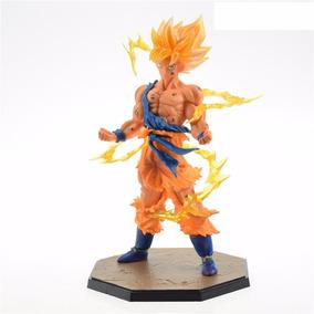 Figure Action Boneco Goku Ssj Efeitos Dragon Ball Z Pronta