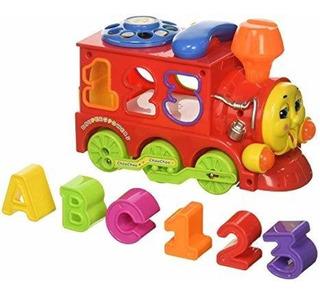 Tren Con Bloques, Luces Y Sonidos Para Bebé - Aj Hogar