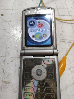 Abaixou! Motorola V3 Rosa Funcionando Bateria Quebrada