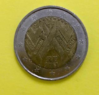 Moneda 2 Euros Conmemorativa Lucha Contra El Sida Francia