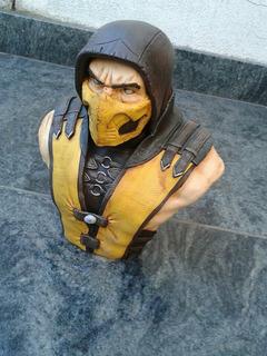Escultura Bustos Super Heroes Spiderman Scorpion
