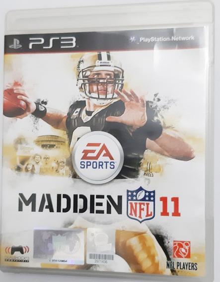 Jogo Madden Nfl 11 Playstation 3 Ps3 Mídia Física