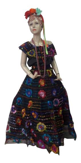 Vestido Chiapaneca Traje Chiapas Típico Bordado A Mano Adolescente