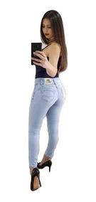 Calça Sawary Jeans Modela Bumbum Bojo Removível Elastano