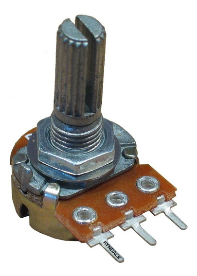 10 Peças * Potênciometro Linear Rotativo 100k L20 L-20 Mini