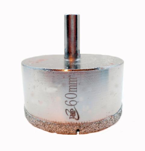 Imagen 1 de 6 de Mecha Diamantada 60mm Vidrio Cerámica Mármol Porcelanato