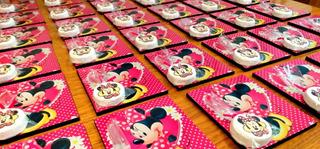 Tiza Y Pizarra Personalizada - 40 Un- Minnie Mouse Souvenirs