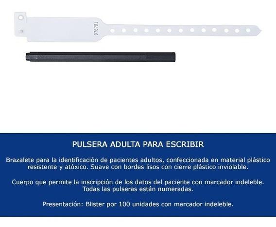 Pulsera Identidad Adulto X 100 Unid Clinicon