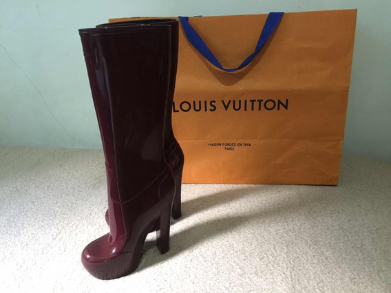 Bota Louis Vuitton Rubber Fetish Boot Pronta-intrega Luxo
