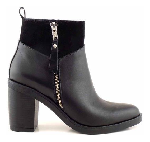 Botineta Vestir Cuero Zapato Mujer Bota Briganti Mcbo24898
