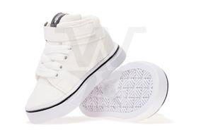 Zapatillas Botitas Para Niños Blanca, Talles Del 17 Al 26