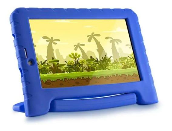 Tablet Infantil Multilaser Kid Pad Azul 3g Com Joguinhos