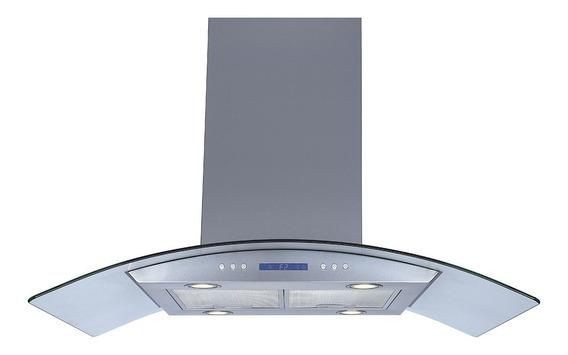Campana Isla Tekhno-home 90cm Cristal Templado / Inoxidable