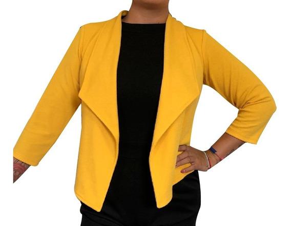 Blazer Moderno Liso Formal Saco Para Mujer Básico