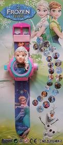 Relógio Frozen Elsa Projetor De Luz Com Slides Do Filme