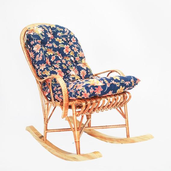 Cadeira Papai Balanço De Vime Almofada Ideal Para Relaxar E Descançar Muito Confortável