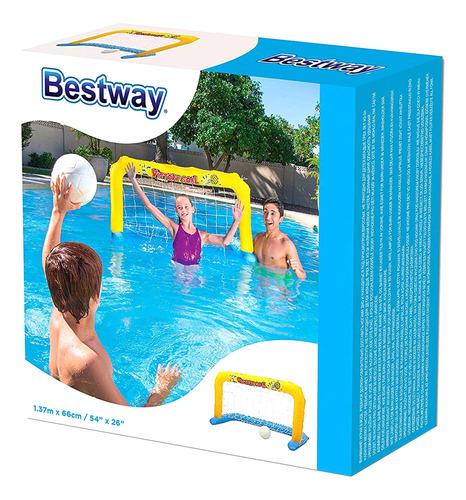 Imagen 1 de 4 de Set Arco Water Polo Inflable Para Pileta Bestway 52123