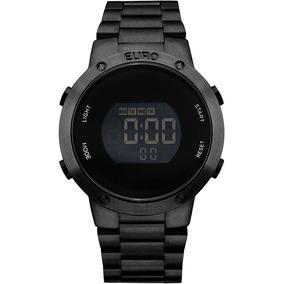 Relógio Euro Feminino Digital Preto Eubj3279ab/4p