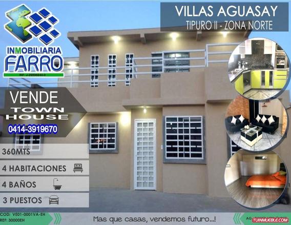 Venta De Town House En Tipuro Villa Aguasay Ve01-0001va-eh