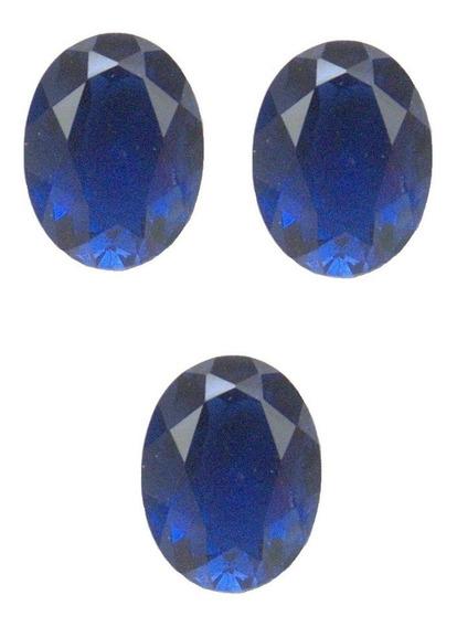 Safira Azul Oval 7x5 Mm Safira 3030bpb