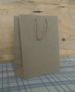 Bolsa Papel Kraft Marrón Para Tienda Regalos Nº5 - Pack
