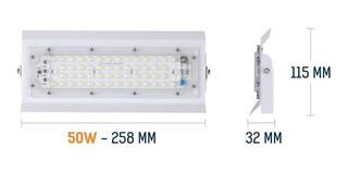 Reflector Led 50w Luminario Potente Iluminación Premium Delg