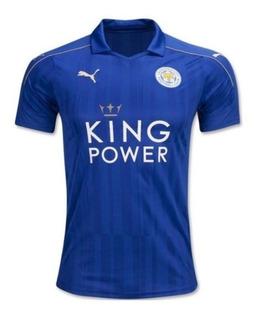 Jersey Del Leicester City Azul Local 2017 Original