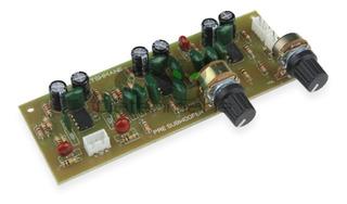 Placa Pre Amplificador Com Filtro Passa Baixa Subwoofer