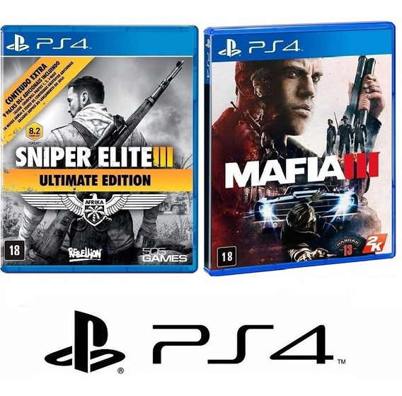 Sniper Elite Iii 3 Ultimate + Mafia Iii 3 - Midia Fisica Ps4