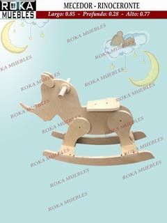 Rinoceronte Mecedor Balancin Animales Infantil Fibrofacil
