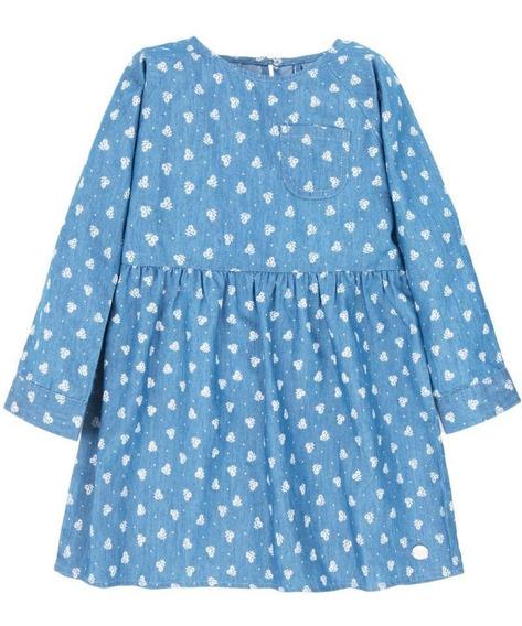Vestido Ella Celeste Niña 4kids