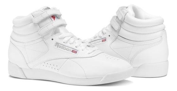 Tenis Rebok Bota Dama Freestyle Blanca Original Envgratis