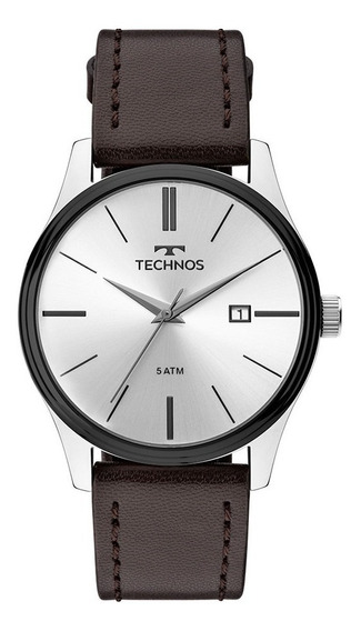 Relógio Technos Couro Masculino Clássico 2115mpp/1k