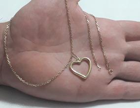 Colar De Ouro 18 K Cartier Cadeado 50 Cm Feminino