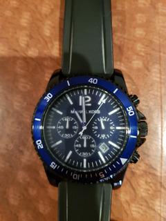 Reloj Michael Kors Azul Crono Impecable. No Tommy Calvin